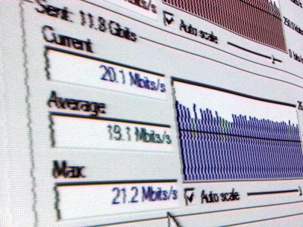 Prueba de velocidad de subida usando FTP
